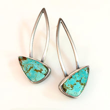 Load image into Gallery viewer, turquoise butterfly earrings