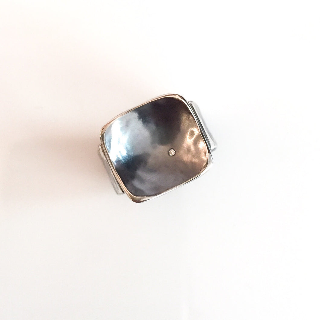 diamond square nest ring