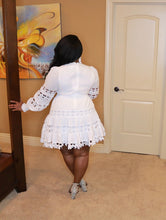 Load image into Gallery viewer, Oh So Loved - White Crochet Dress