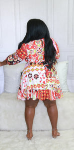 In the Mix Flounce Dress