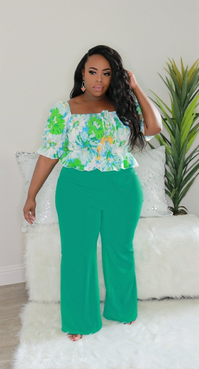 Spring Green - 2 pc Pants Set