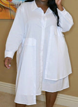 Load image into Gallery viewer, In My Own Lane - White Tunic Dress