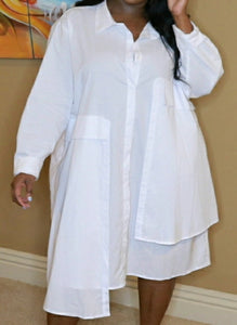 In My Own Lane - White Tunic Dress