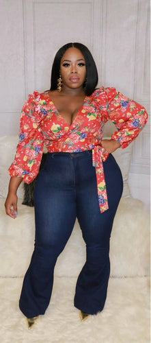 Focus On Me - Floral Wrap Top