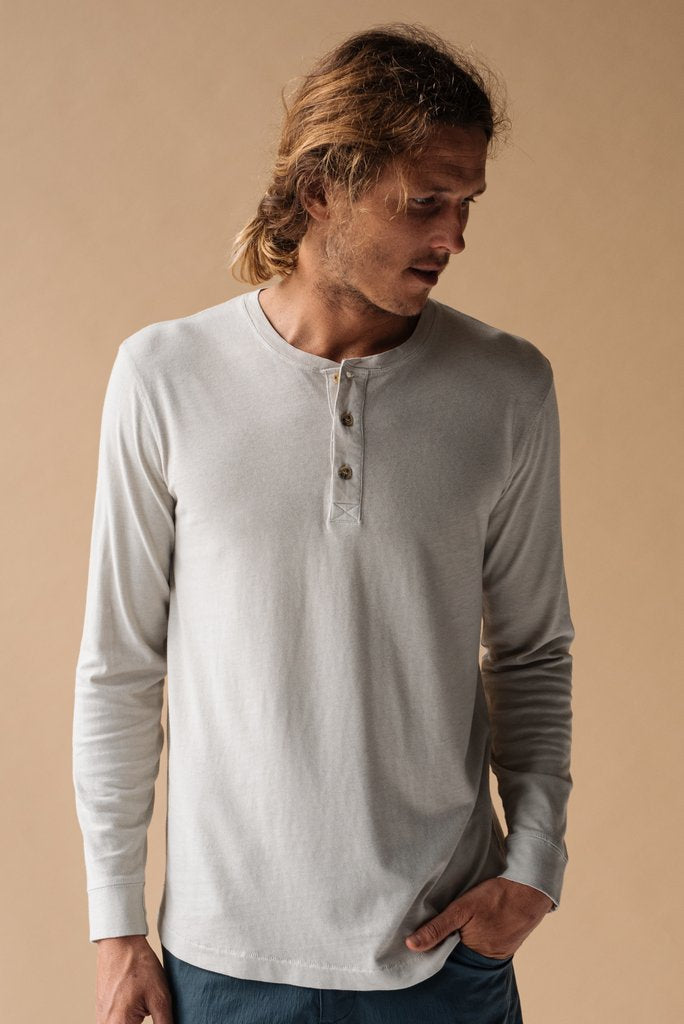 McTavish Recycled Cotton Henley Tee