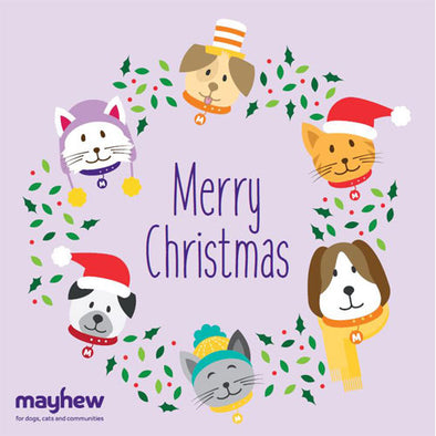 Mayhew Illustrated Wreath Christmas Cards
