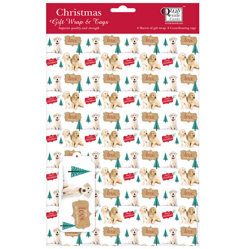 Labradors in the Snow Gift Wrap