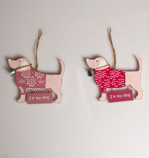 I Love my Dog Hanging Decoration - The Mayhew Animal Home
