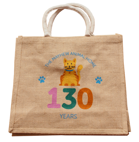 Mayhew 130th birthday cat jute bag - The Mayhew Animal Home - 1