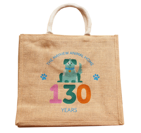Mayhew 130th birthday dog jute bag - The Mayhew Animal Home - 1