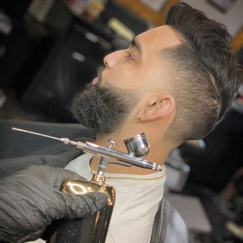 Beautiful haircut using Zay's Cordless Airbrush Compressor