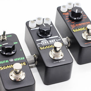 SONICAKE Guitar Bass Accessories 1/4 Inch 6.35mm Male to Male Effects Pedalboard Straight Coupler Pedal Connector (3PCS)