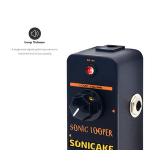 SONICAKE Sonic Looper Loop Station Recording Looping Guitar Effects Pedal