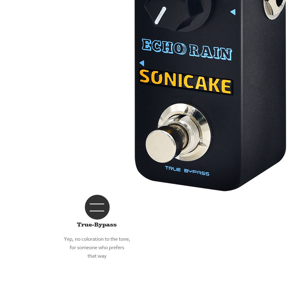 SONICAKE Echo Rain Analog-Style Hybrid Digital Delay Guitar Effects Pedal