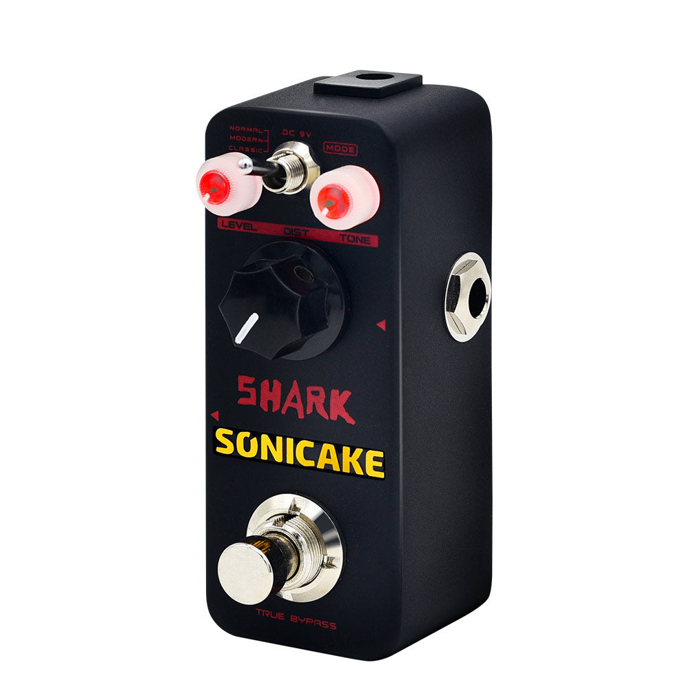 SONICAKE Shark Higain Classic British Stack Crunch High Gain Distortion Guitar Effects Pedal