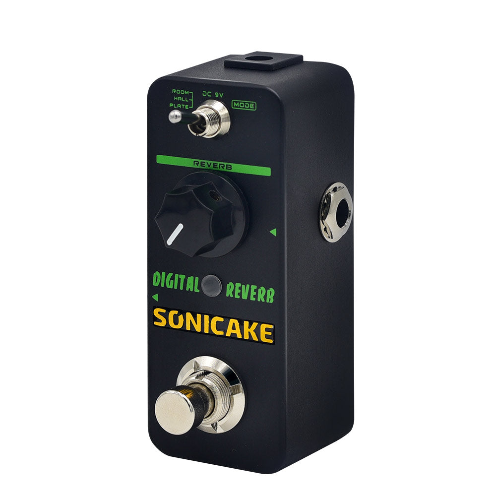 SONICAKE Digital Reverb Room Hall Plate Guitar Effects Pedal