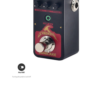 SONICAKE Sandman Digital Preamp Metal Distortion Modern HiGain Amp Modeling Guitar Effects Pedal