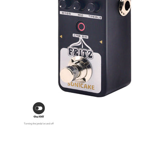SONICAKE Fritz Digital Preamp Vintage Retro Overdrive Crunch Tube Amp Modeling Guitar Effects Pedal