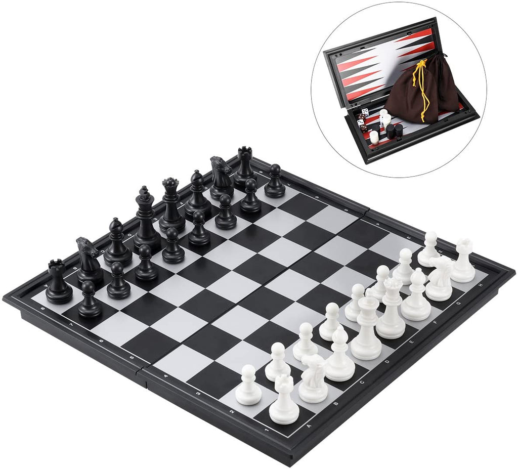 3 in 1 Magnetic Chess, Checkers & Backgammon