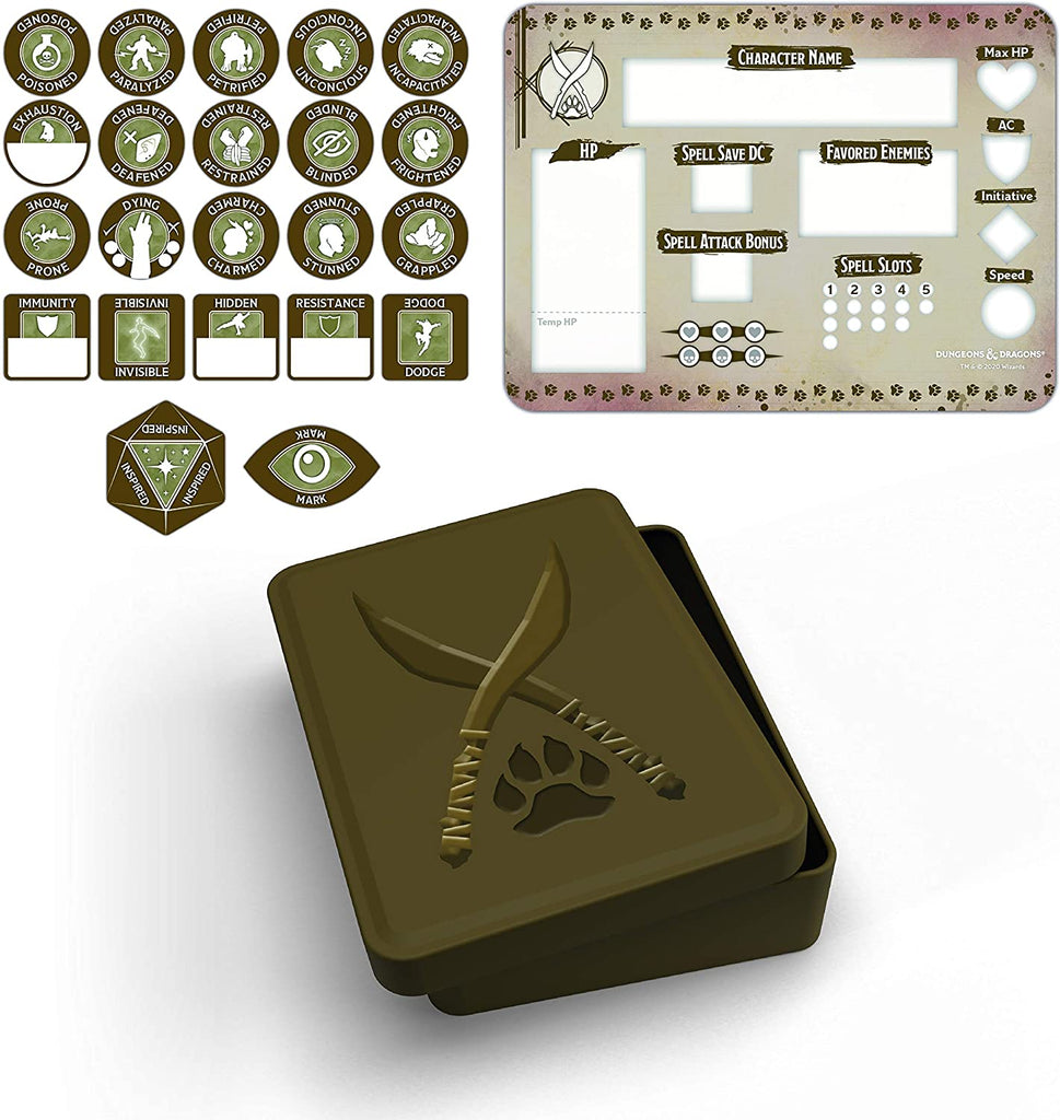 D&D Ranger Token Set (Player Board & 22 tokens)