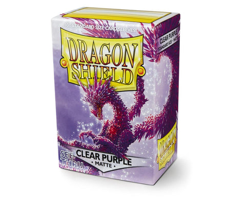 Dragon Shield Sleeves Matte Clear Purple