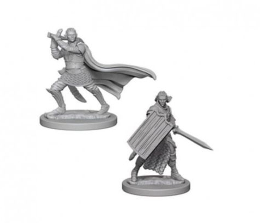 Elf Male Paladin: WizKids Deep Cuts Unpainted Miniatures (W2)
