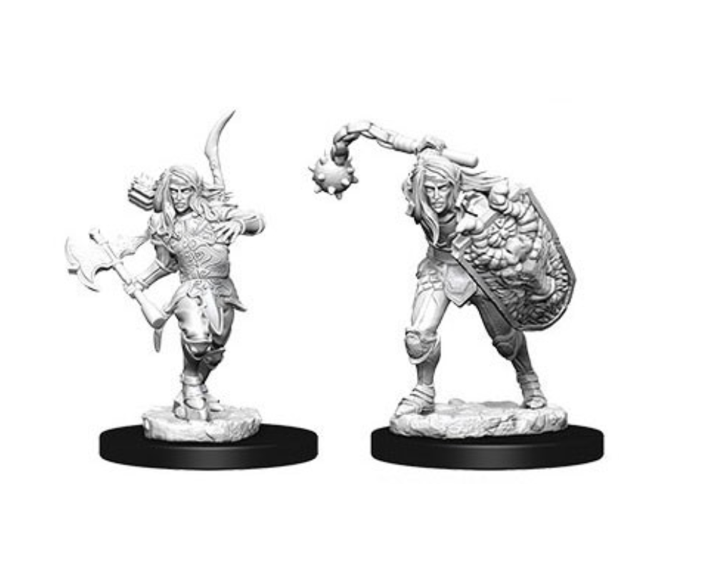 Male Elf Fighter: Pathfinder Deep Cuts Unpainted Miniatures (W1)