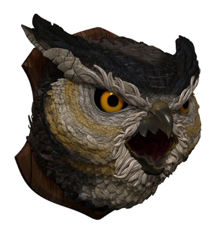 Dungeons & Dragons: Owlbear Trophy Figure