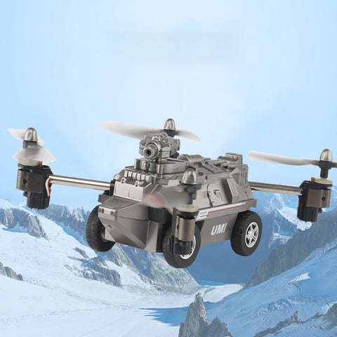 Four-axis aircraft land-air dual mode deformation tank speed WIFI real-time aerial drone