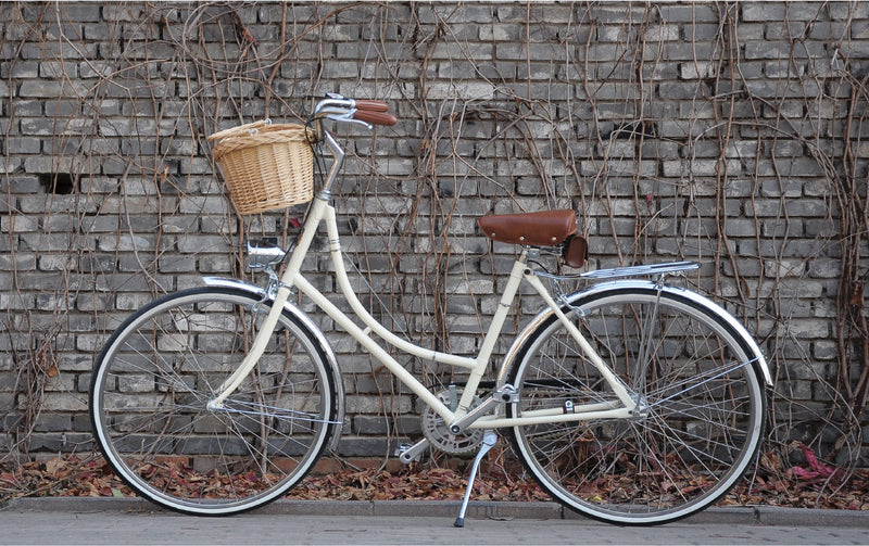 UK Sturmey-Archer 3-speed retro bike casual city ladies bicycle with basket