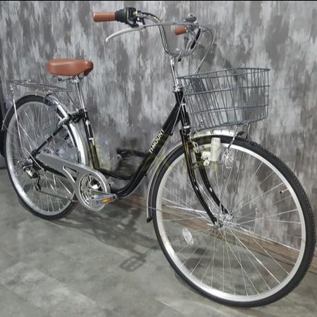 26-inch-6-speed janpan shimano transmission Lady and men bike communities city bicycle
