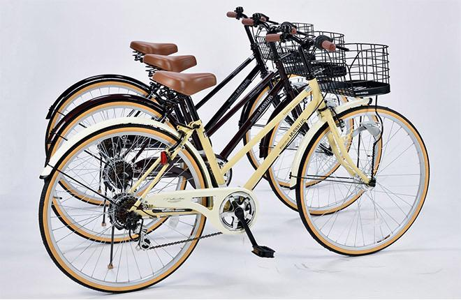 26-inch Japan 6-gears Shimano transmission japan bike ladies bicycle with basket