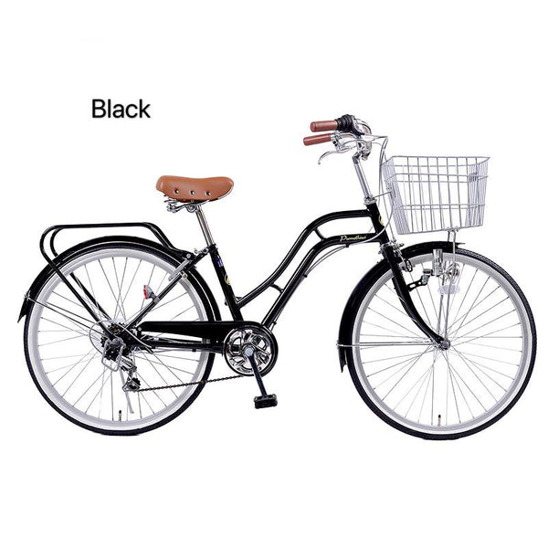 Classic Black 24inch japan 6-speed Shimano transmission lady bike city commuter retro bicycle
