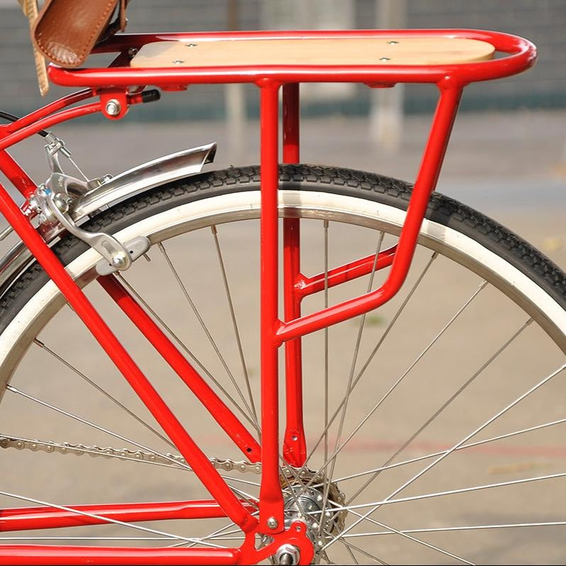 Aluminum alloy rear rack bamboo clapper