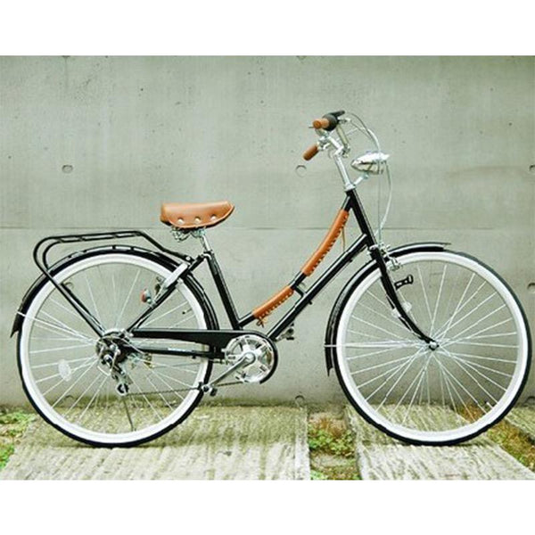 26inch Japaness Shimano 7-speed transmission lady city bike black