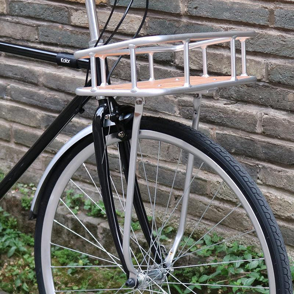 retro bicycle basket commuter bike bamboo aluminum alloy basket