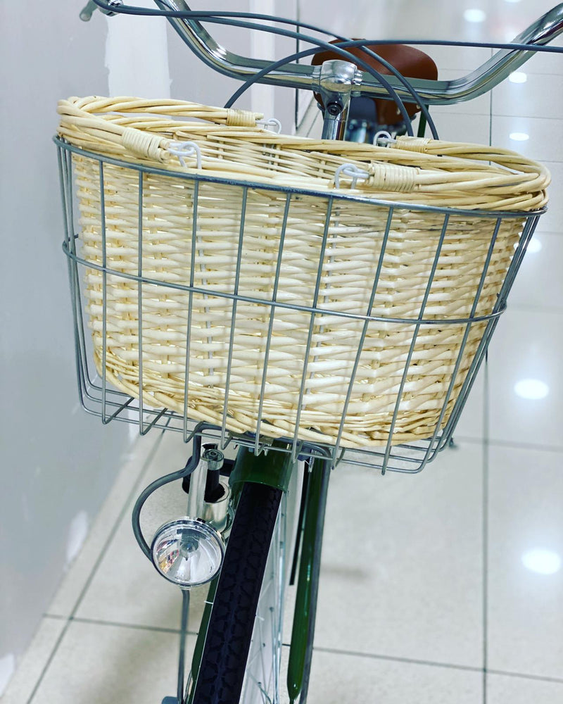 Rattan Basket for lady city fashion bicycle