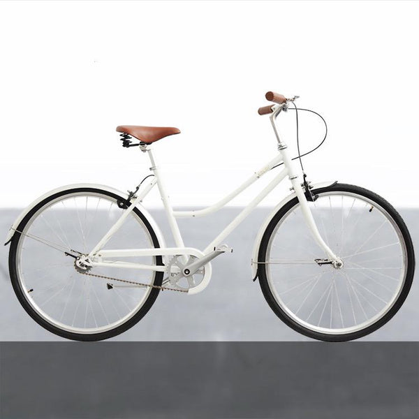 26inch single speed retro bicycle city bicycle ladies come with the rattan basket