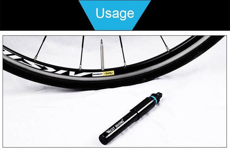 BIKING Portable Bicycle Pump 150PSI Presta/Schrader Road MTB Mountain Bike Pump