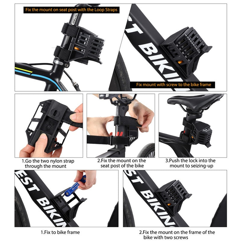 BIKING Foldable Bike Lock With 3 Keys Alloy Chain Lock