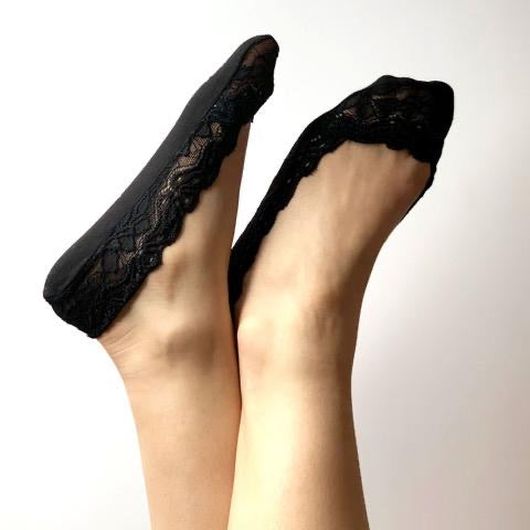 Lace sockette Black