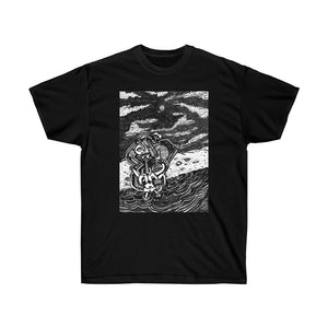 Stargazer pen and ink drawing. Unisex Ultra Cotton Tee