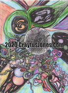 Craytus Jones Drawing Pen and Ink with Marker and Pencil Black Hole Abstract quarantine art organic texture graphic folk wall decor Original artwork