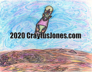 Craytus Jones Drawing Pen and Ink Abstract Floating Object quarantine art organic texture graphic folk wall decor Original artwork