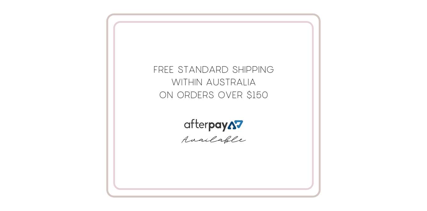Free standard shipping with orders over $150. Afterpay available