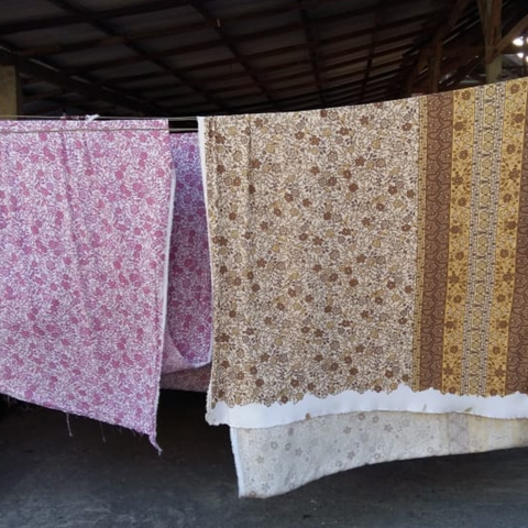 Fabric process drying