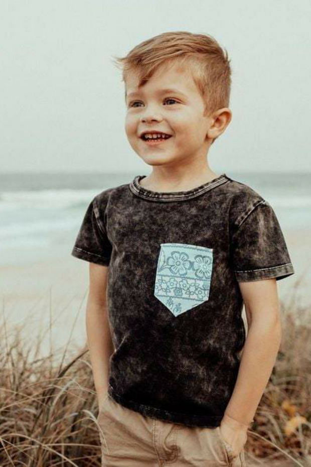 Little Man T-shirt - Indigo