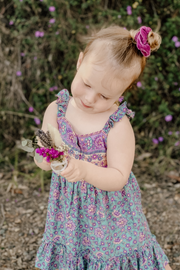 Boho purple blue child dresses