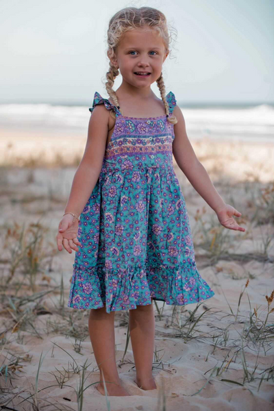 Boho Flutter dress kids clothing