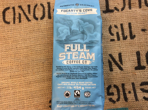 Full Steam Fogarty's Cove - Medium Roast (WHOLE BEAN)